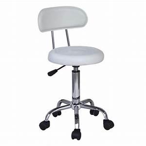 Tabouret De Bureau : tabouret roulettes de travail blanc myco00572 achat vente chaise de bureau soldes ~ Teatrodelosmanantiales.com Idées de Décoration