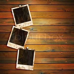 Bild Auf Holz : alten bilderrahmen auf holz hintergrund stockfoto colourbox ~ Frokenaadalensverden.com Haus und Dekorationen