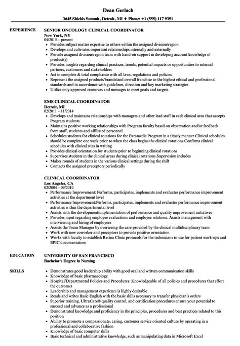 Coordinator Resume by Clinical Coordinator Resume Bijeefopijburg Nl
