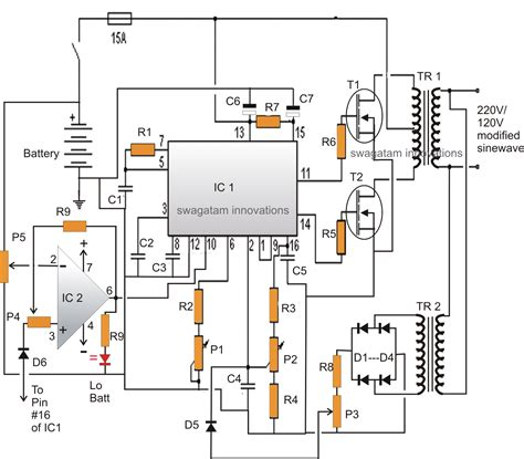 Modified Sine Wave Inverter Circuit Using With