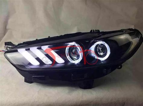 drl bi xenon projector mustang style led headlights for