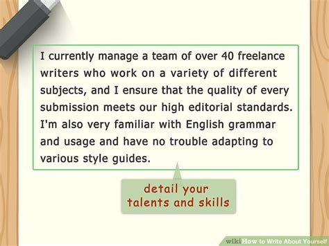 Article Template Ingles by How To Write About Yourself With Exles Wikihow