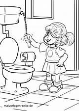 Coloring Hygiene Personal Toilette Toilet Colorear Ausmalbilder Ir Malvorlage Dibujo Higiene Gesundheit Ausmalen Gehen Going Alone Malvorlagen Seite Alleine sketch template