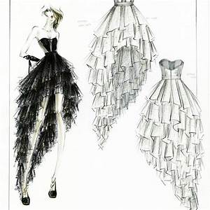 Dress Designer Sketch - Oasis amor Fashion