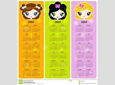 Bookmarks With Calendar 2014 Stock Vector Image 35980116