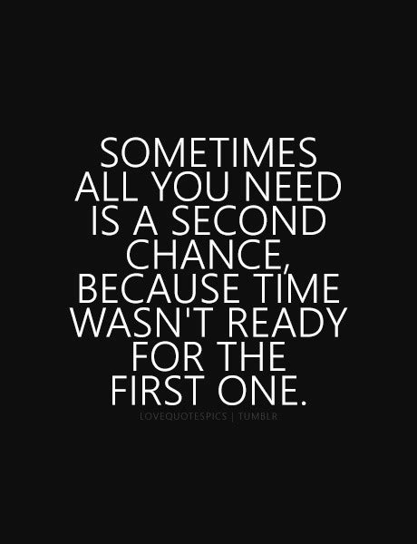 Second Chances Quotes Second Chance Quote