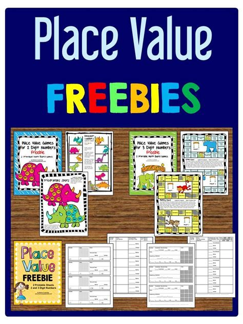 printable 2nd grade place value games place value freebies printable board games and
