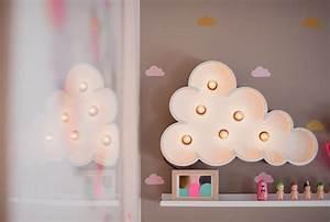 Lampe Chambre Fille : lampe nuage chambre fille ~ Teatrodelosmanantiales.com Idées de Décoration