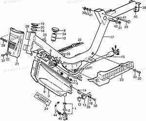 Honda Motorcycle 1981 Oem Parts Diagram For Frame    Fuel Tank    Wire Harness