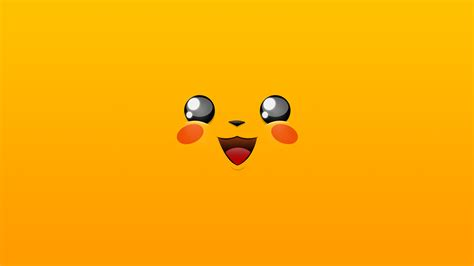 wallpaper pikachu yellow hd minimal