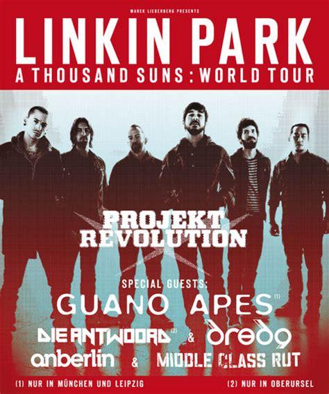 linkin park tour 2018 deutschland linkin park projekt revolution a thousands suns