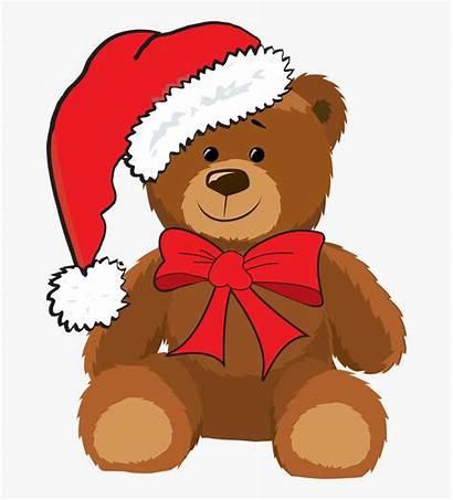 Teddy Bear Clip Bears Clipart Christmas Animated