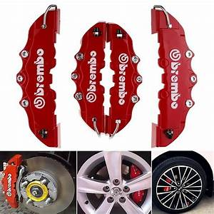 Red Disc Brake Caliper Covers Parts Front Rear Set 3d