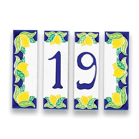 address tile house numbers italian pottery outlet