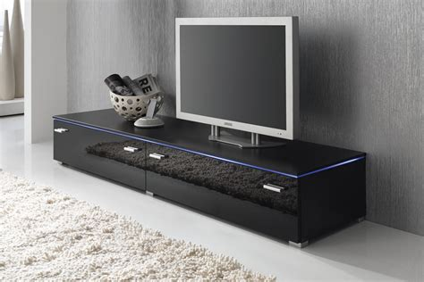 Lowboard Tv Schrank Tv-element 180 Cm Schwarz Fronten