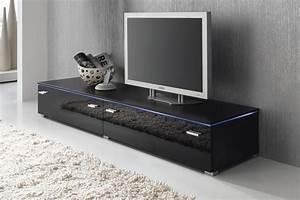 Tv Möbel 60 Cm Hoch : lowboard tv schrank tv element 180 cm schwarz fronten hochglanz optional led beleuchtung m bel ~ Bigdaddyawards.com Haus und Dekorationen
