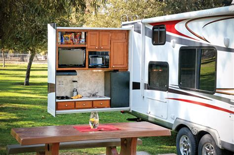 take it outside with an outdoor kitchen www trailerlife com