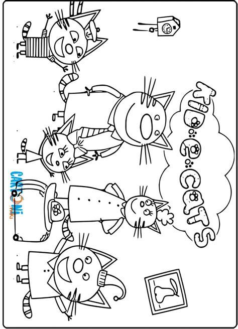 kid  cats disegni da stampare cartoni animati