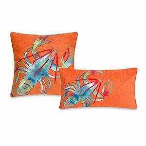 liora manne outdoor throw pillow collection in lobster With bed bath and beyond outdoor throw pillows