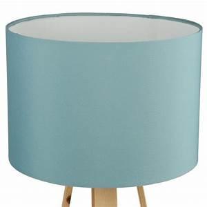 Lampe De Chevet Bleu : lampe poser bois scandinave 47cm bleu ~ Dailycaller-alerts.com Idées de Décoration