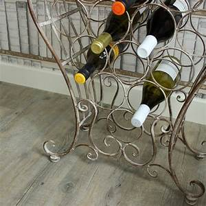 Ornate Metal Wine Rack with Shelves - Melody Maison®