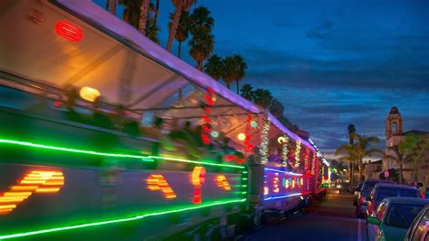 santa cruz holiday lights train santa cruz holiday lights train youtube