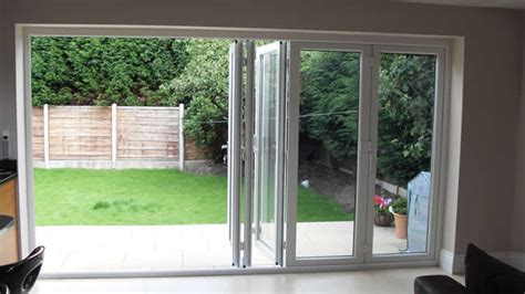 patio bi folding doors misted windows