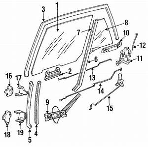 Pontiac Sunbird Run Channel  Sedan  Upper  Sedan  Door