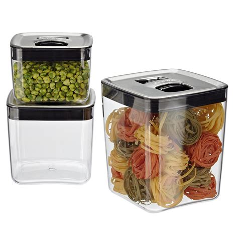 container cuisine click clack cubes with stainless lids the container store