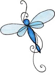 Simple Dragonfly Tattoo Designs