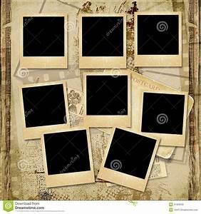 Album Photo Polaroid : vintage background with stack of old polaroid frame stock illustration illustration of ~ Teatrodelosmanantiales.com Idées de Décoration