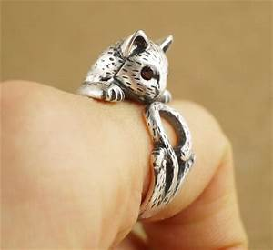 summer style hippie vintage anel punk kitty wedding ring With cat wedding ring