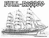 Coloring Ship Pages Pirate Ships Sailing Military Popular Coloringtop sketch template