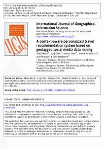 (PDF) A Context-aware Personalized Travel Recommendation ...