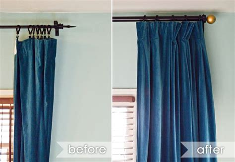 how to hang curtains around the house