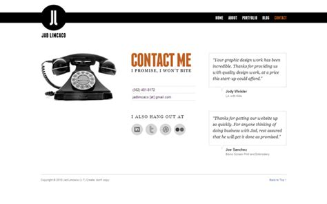 house designing websites 25 exles of well designed contact pages