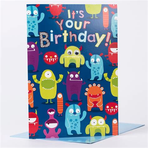 Giant Birthday Card  Monsters  Only 99p