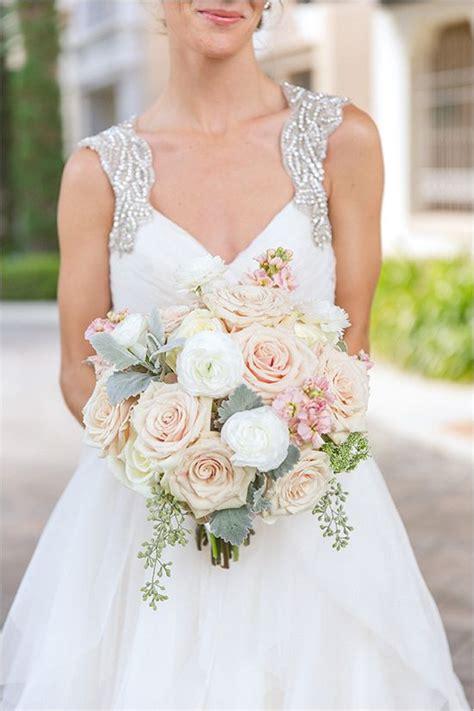 Pink White And Green Wedding Bouquet Elegantwedding
