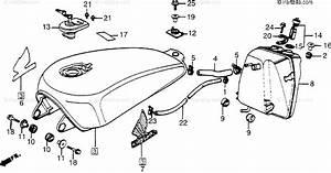 Honda Motorcycle 1984 Oem Parts Diagram For Fuel Tank