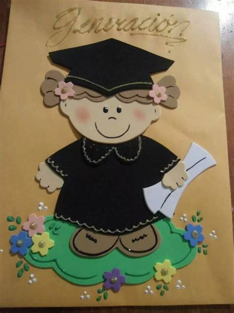 imagenes de foami para graduacion de kinder graduados 2