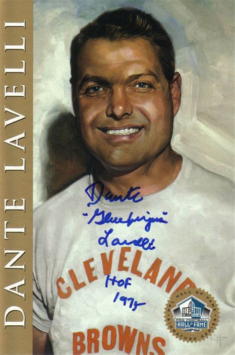 dante lavelli dante lavelli signed of fame card mix browns ebay