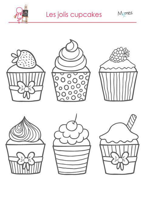 dessin cuisine dessert coloring pages