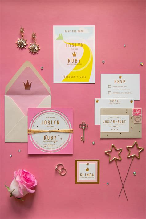 glitzy pink glinda  good witch wedding inspiration