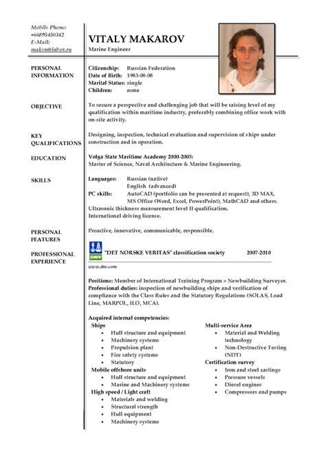 resume marine exles resumes design