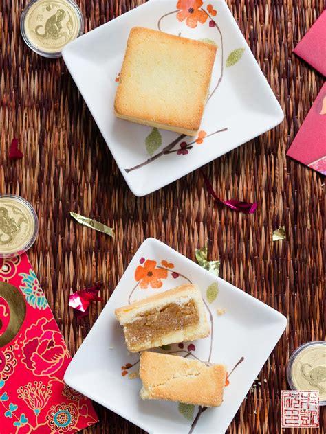 happy year   monkey  chinese pineapple cakes