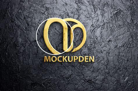 Letterpress logo free mockup to present your logo design in a photorealistic way. Free Gold Logo Mockup Vol 3 PSD Template - Mockup Den