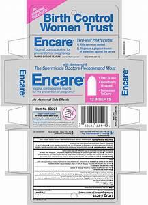 Encare  Insert  Blairex Laboratories  Inc