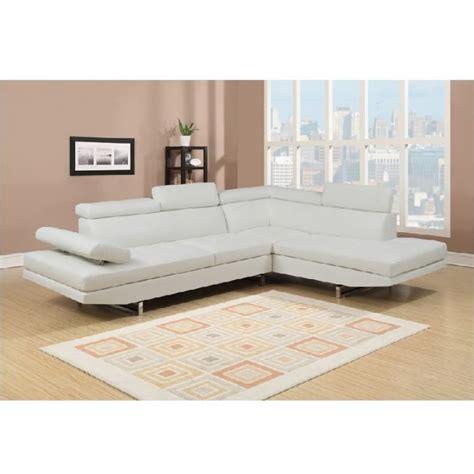 canapé cuir blanc angle canapé d 39 angle en simili cuir blanc rubic achat vente