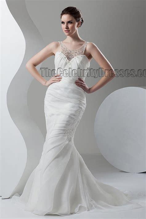 trumpet mermaid sweepbrush train bridal gown wedding dress thecelebritydresses