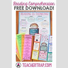 Reading Comprehension Freebies! Poster, Bookmarks, And Fold Ups Love Teaching That Reading Is